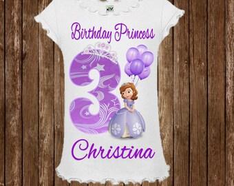 Sofia the First Birthday Shirt - Sofia Birthday Shirt