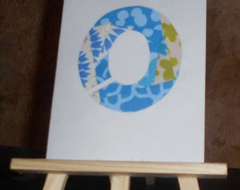 Initial blue iris folding card