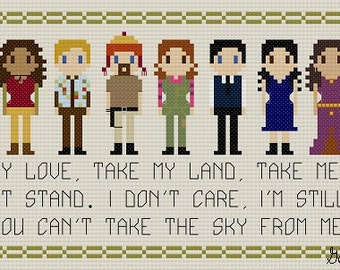 Firefly Song Quote Cross Stitch Pattern