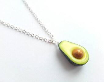 Avocado Necklace, Food Jewelry, Miniature Food, Kawaii Jewelry, Avocado, Healthy