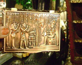 Unique Egyptian Pewter Jewelry Box Mad in Egypt