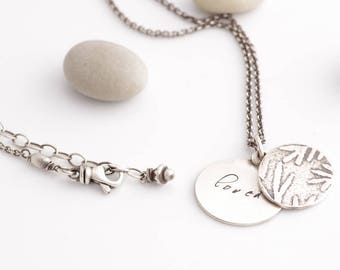Our Little Secret Message Silver Charm Necklace