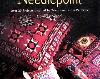 "NEEDLEPOINT BOOKS//""Kilim Designs""/ Over *27* Projects Inspired by Traditional Kilim Patterns. by Dorothy Wood.t/Was (42.00 Dollars.)Now!"