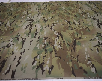 """3/4 Yards Multicam Nylon /Cotton Ripstop Military Uniform Fabric 64"""" Wide By 3/4 Yard Long"""