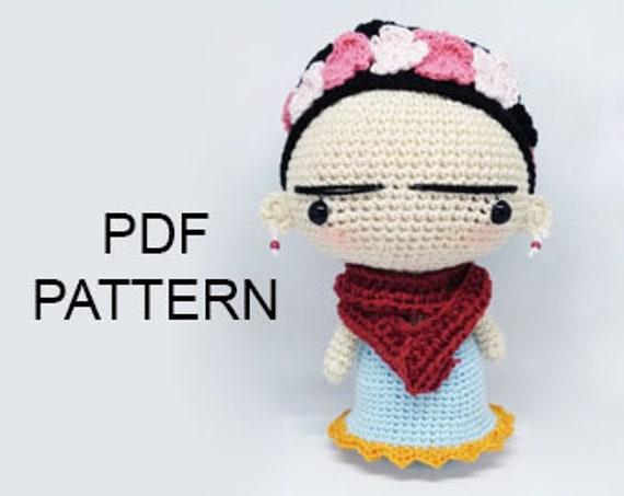 Frida Amigurumi Patron : Pattern frida amigurumi pattern frida kahlo pdf crochet
