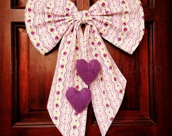 Staple birth, purple bow, outdoor birth, cockade birth, decoration birth, children's bedroom, kids bow, birth