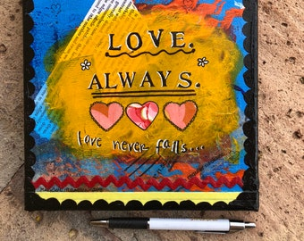 Love. Always. - Mixed Media Wall Art