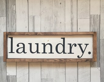 Laundry Sign, Farmhouse Sign, Farmhouse Decor