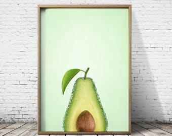 Avocado Print - Avocado Art - Avocado Poster -  Kitchen Print