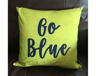 Go Blue Throw Pillow