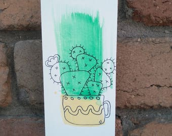 Prickly Pear Cactus Original Artwork