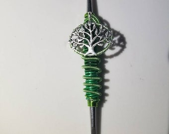Wire Wrapped Mini Green Tree Tool