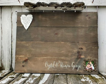 WOODEN GUEST BOOK | Rustic Wedding Signs | Photo | Name and Date Sign | This Day I will Marry My Best Friend | Guest Book Alternative