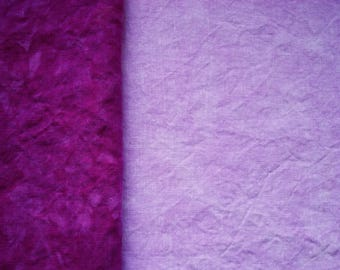30 count Purple Hand Dyed Cross Stitch Fabric Evenweave Linen Fabric, Organic Hemp, Fuchsia Pale /Medium