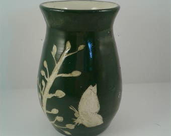 Small Carved Butterfly Vase