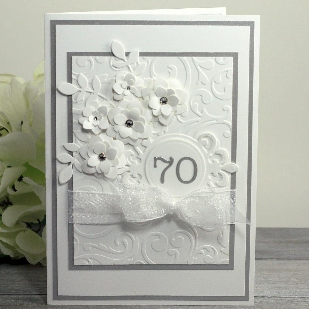 70th anniversary card happy anniversary greetings platinum zoom kristyandbryce Gallery