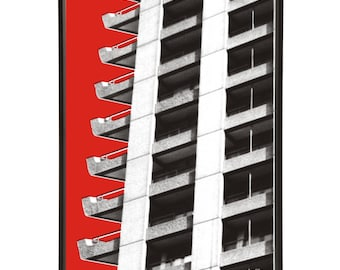 Brutalist Architecture Barbican Estate Pop Art Print Modernist Modernist Mid-Century Brutalism London Buildings Barbican Centre 1960s