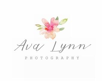 Ava Lynn floral Design, Premade Logo, Modern Logo, Branding, watercolor logo, watercolor logo design