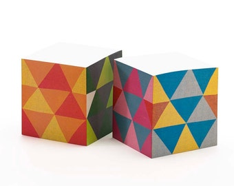 Triangles Sticky Note Cube