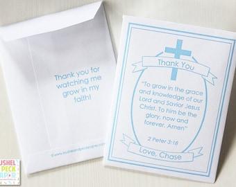 Cross #Seed #Packet #Favors - #Baptism #Christening #Communion Favors