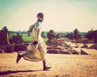 Whimsical artwork, fine art photograph, Egypt photography, Egyptian desert, retro, travel print - Playtime