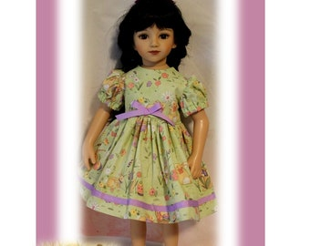 """Easter Bunny Dress fits 20"""" tall dolls the same size as the 20"""" tall Maru and Friends dolls. Toy doll Clothes. Easter Basket Gift."""