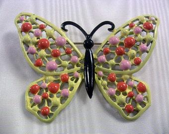 Vintage Enamel Jewelry Hedy Jewelry Butterfly Pin Butterfly Jewelry Insect Jewelry Butterfly Brooch Lapel Pin Mod Jewelry Colorful