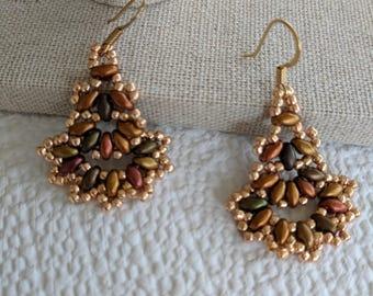 Autumn Colors Fan Earrings
