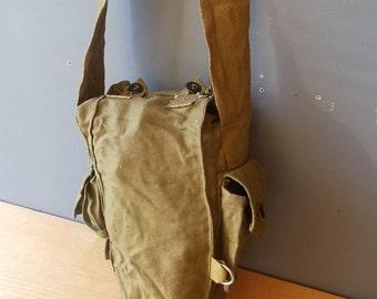 Canvas BAG / Vintage Shoulder Bag / BackPack / Rucksack / Military Bag / Made in USSR / Bag / Handbag / Gasmask Bag