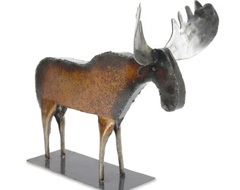 Art Metal Freestanding Moose Sculpture