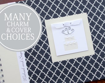 Personalized Paper Anniversary Gift | First Anniversary Gift | One Year Anniversary | Anniversary Book & Journal | Midnight Quatrefoil