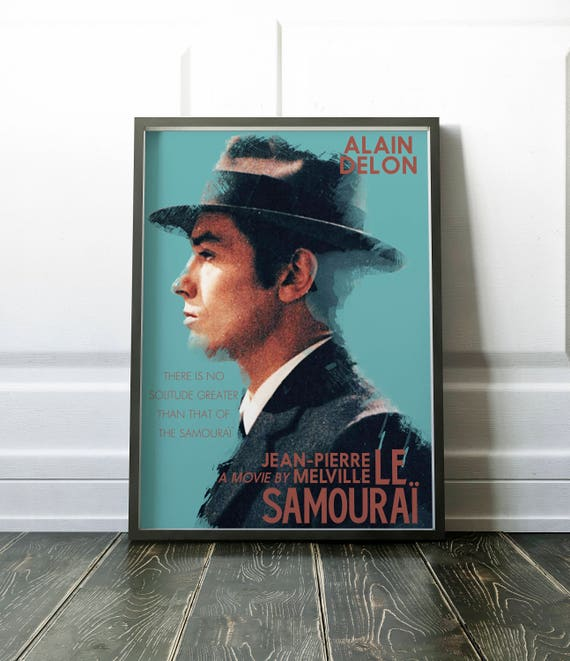 Le Samouraï minimal movie poster for Jean-Pierre Melville