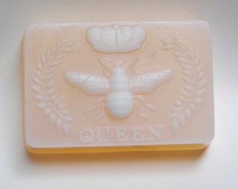 Queen Bee honey & calendula petal glycerin soap