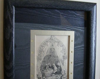 Commedia dell'arte Reproduction Etching of unknown origin or age. Framed