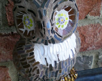 Stained Glass Mosaic 3-D Owl
