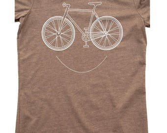 Bike, bicycle T-shirt , printed on buttery soft threads, bicycle shirt, cycling clothing, biking gift, cycle, too cute, free shipping in USA