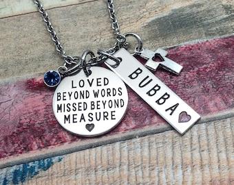 Sympathy Jewelry, Memorial Necklace, Memory necklace, Engraved Necklace, Keepsake Jewelry, Memorial Gift,  Bereavement Jewelry, Custom Gift