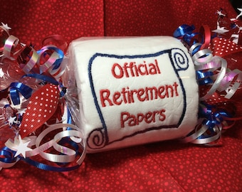Official Military Retirement Papers Gag Gift Toilet Paper