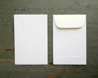 "CLEARANCE! 100 Standard Size Seed Packet Envelopes, Recycled White, Seed Envelopes, Favor Envelopes, Recycled 3x4.5"" (76x114mm)"