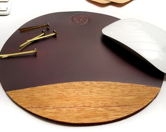 Fine Leather Mouse Pad Mousepad Office Accessories Desk Pad corporate gift business gifts College Company gift