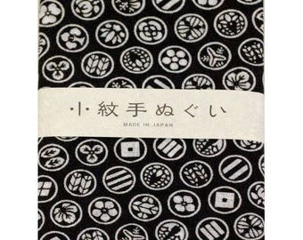 Japanese Hand towel Small Patern TENUGUI  'Kamon'(Family Mark) 33 x 90cm Cotton