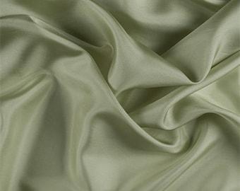 Celery Silk Habotai, Fabric By The Yard