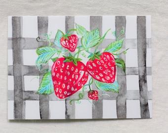 CARD - Sweet Strawberries