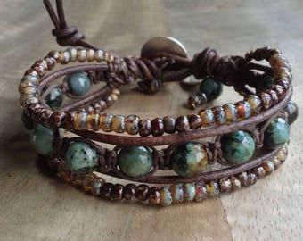 Bohemian bracelet boho chic bracelet earthy bracelet womens jewelry western bracelet gift for her boho bracelet gemstone jewelry