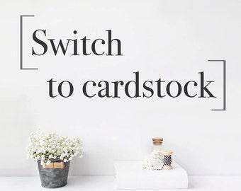 Switch to 65lb Cardstock Paper - Will swap out all of your guest book pages for card stock - Only need to purchase 1 per book