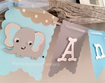 Baby Name Banner with Animal