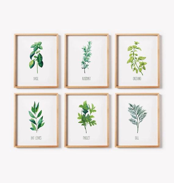 Printable Art/ Herb Print Set/ Kitchen Decor/Kitchen Wall Art/