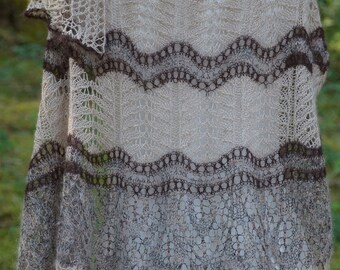 Knit Shawl Pattern ~ Leaves Washed Ashore