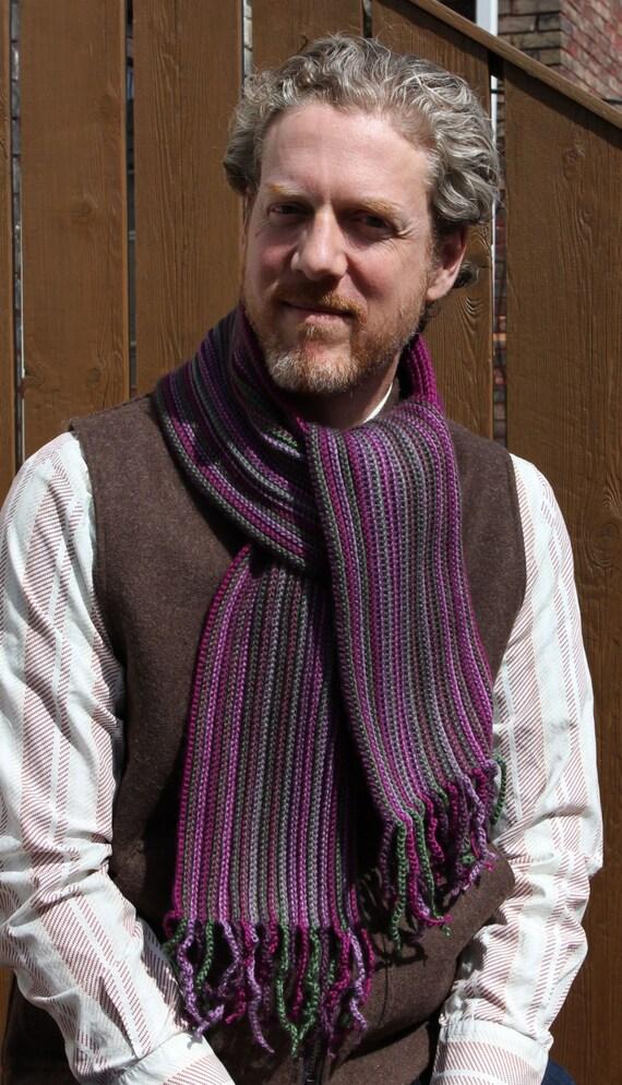 Crochet Pattern Mens Scarf Crochet Scarf Pattern Crochet Scarf