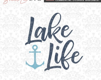 lake life svg, summer svg, lake svg, nautical svg, SVG, DxF, EpS, Quote SVG, Cut File, Cricut, Silhouette, Instant download, Iron Transfer